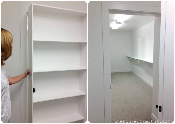 hidden extra storage behind door