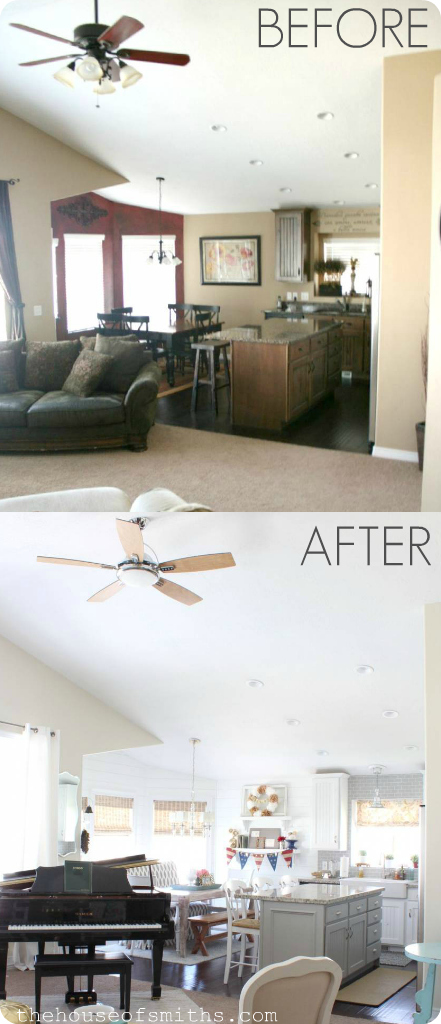 Stylish new ceiling fan install #beforeandafter #stylishlighting #ceilingfans #houseofsmiths