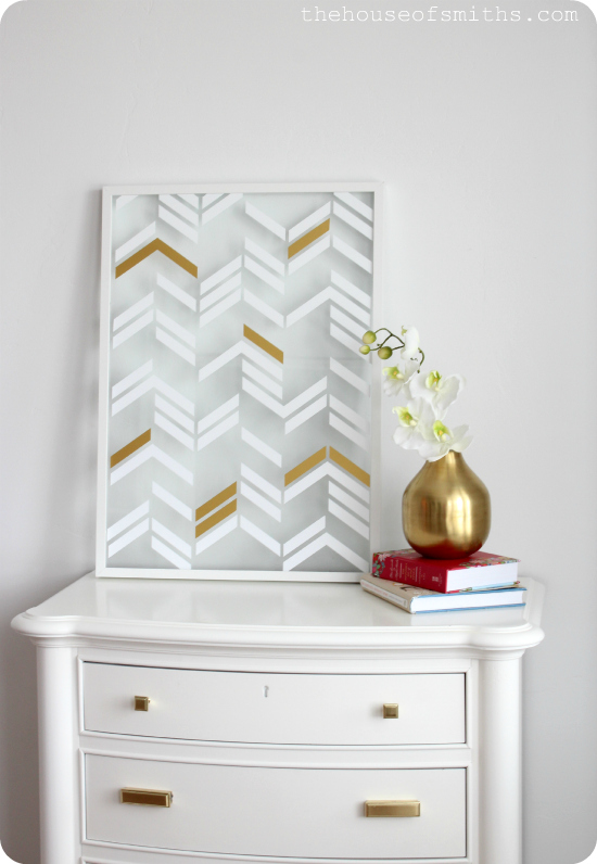 Scattered Herringbone Wall Art - thehouseofsmiths.com