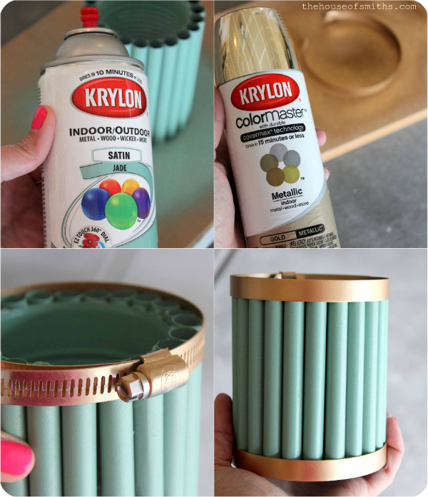 DIY Pencil Holder - Homework Station - thehouseofsmiths.com