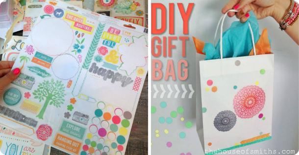 DIY gift bag idea - house of smiths