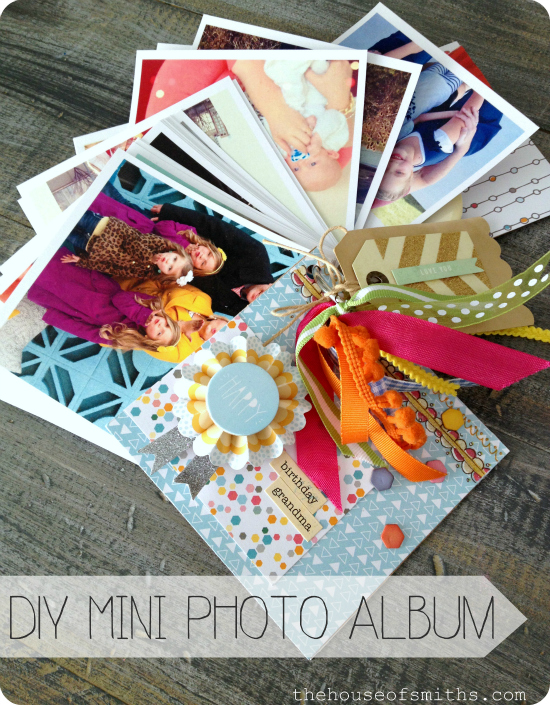 DIY mini photo album - printed instagram photos - gift idea - house of smiths