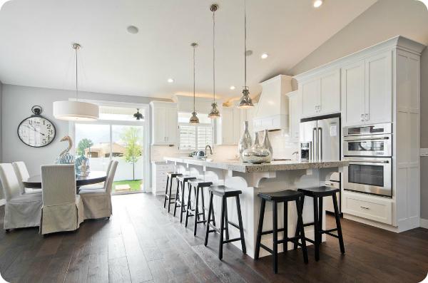 Beautiful white kitchen layout
