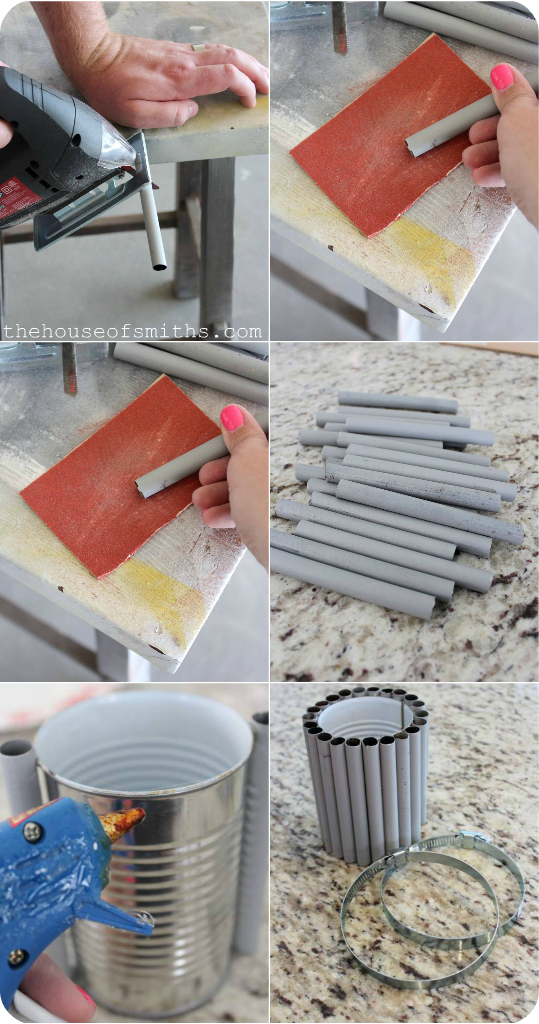 Repurposed DIY Pencil Holder - Krylon Mystery Box Challenge - thehouseofsmiths.com