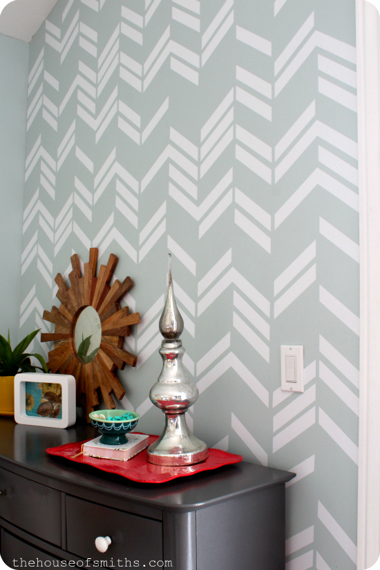 Large Scattered Herringbone decal - thehouseofsmithsdesigns.com
