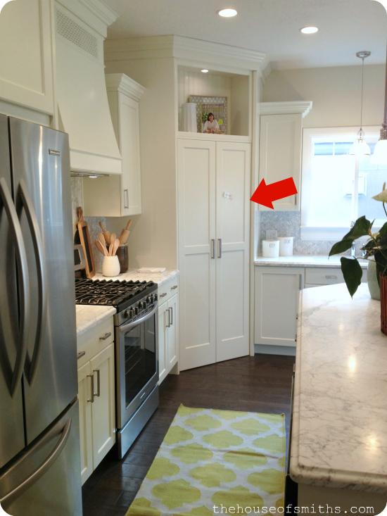 double door pantry entry