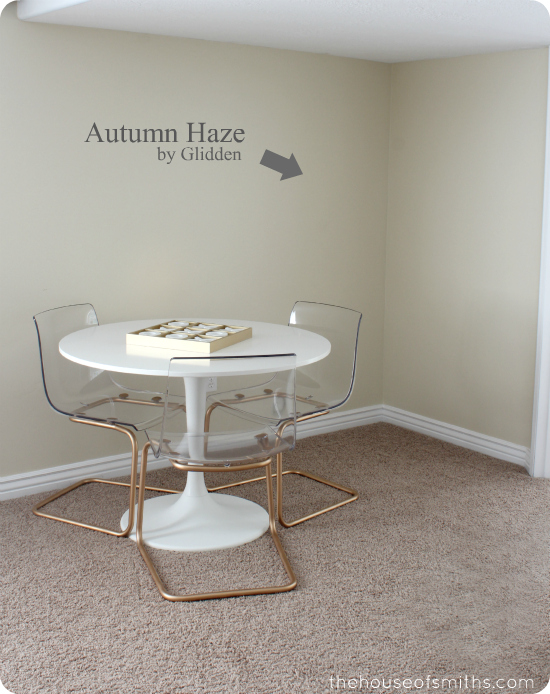 Autumn Haze by Glidden in Basement - thehouseofsmiths.com