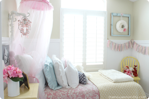 Girly Bedroom Room Reveal - thehouseofsmiths.com