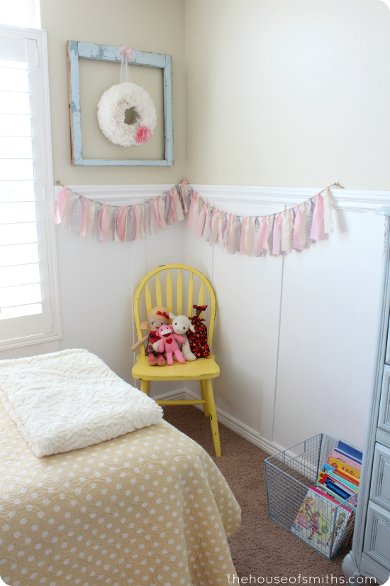 Reading Nook in Little Girl Bedroom Makeover - thehouseofsmiths.com
