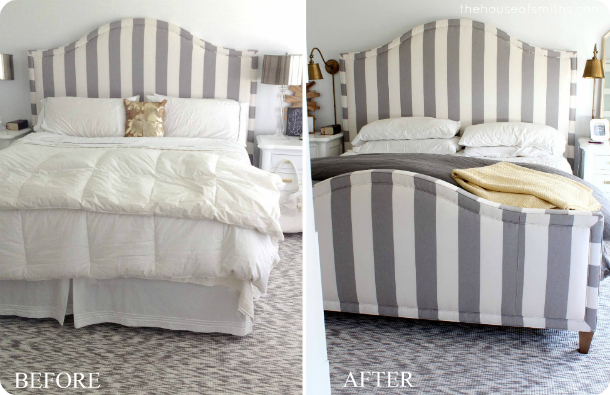 striped upholstered bed - thehouseofsmiths.com