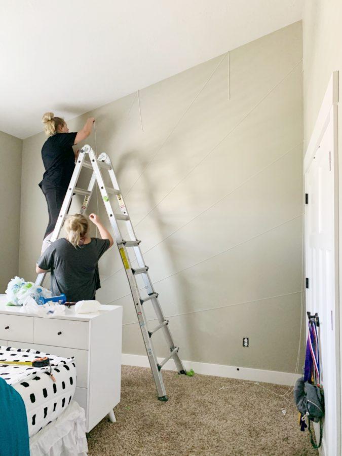 Sunburst Wall DIY - House of smiths - Teen bedroom makeover
